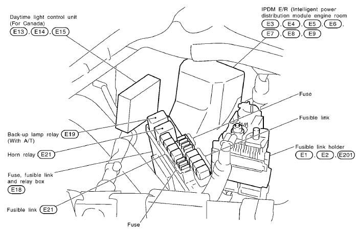 2004 infiniti g35 fuse box location