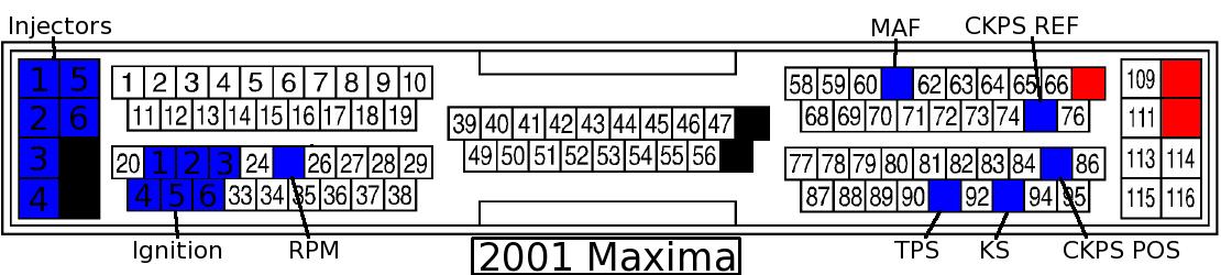 2001 Nissan Maxima Wire Harness Color Ecu Pinout Diagrams My4dsc Com Premier 4 Door
