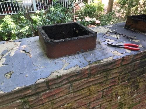 Chimney Crown needing repair