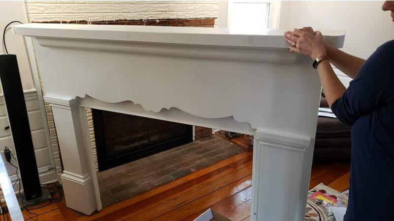 Build a Stunning Modern Fireplace & Mantel 2