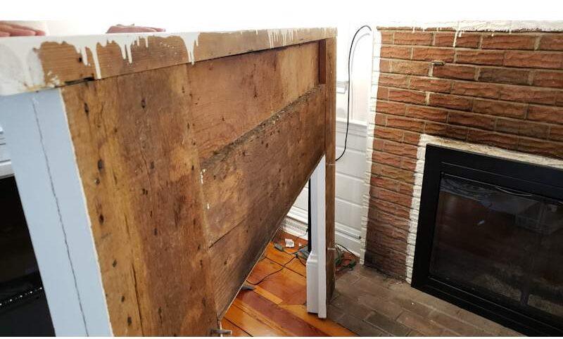 Build a Stunning Modern Fireplace & Mantel 3