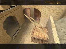 La VRAM quan està en mode 3D també s'encarrega de guardar la posició d'objectes tridimensionals a l'espai, quan aquesta falla pot crear zones en les que tots els objectes 3D s'han mogut excepte una part que es pot veure com una zona completa o si ens fixem en la porta de la imatge es poden veure alguns punts que tampoc s'han mogut.