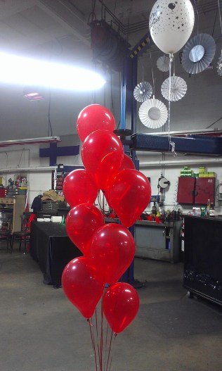Balloons hide poles