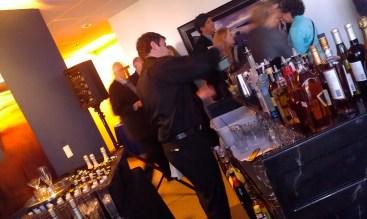 Bar with elegant up-lighting