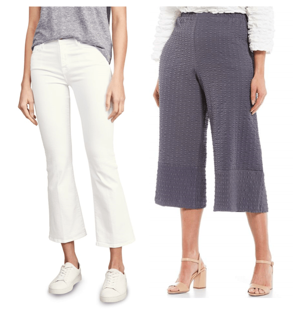 Where should the hem fall on crop pants?