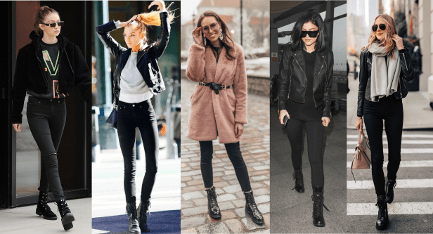 How to Style Combat Boots with Denim