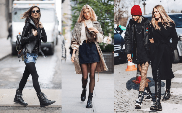 How to Style Combat Boots with Tights