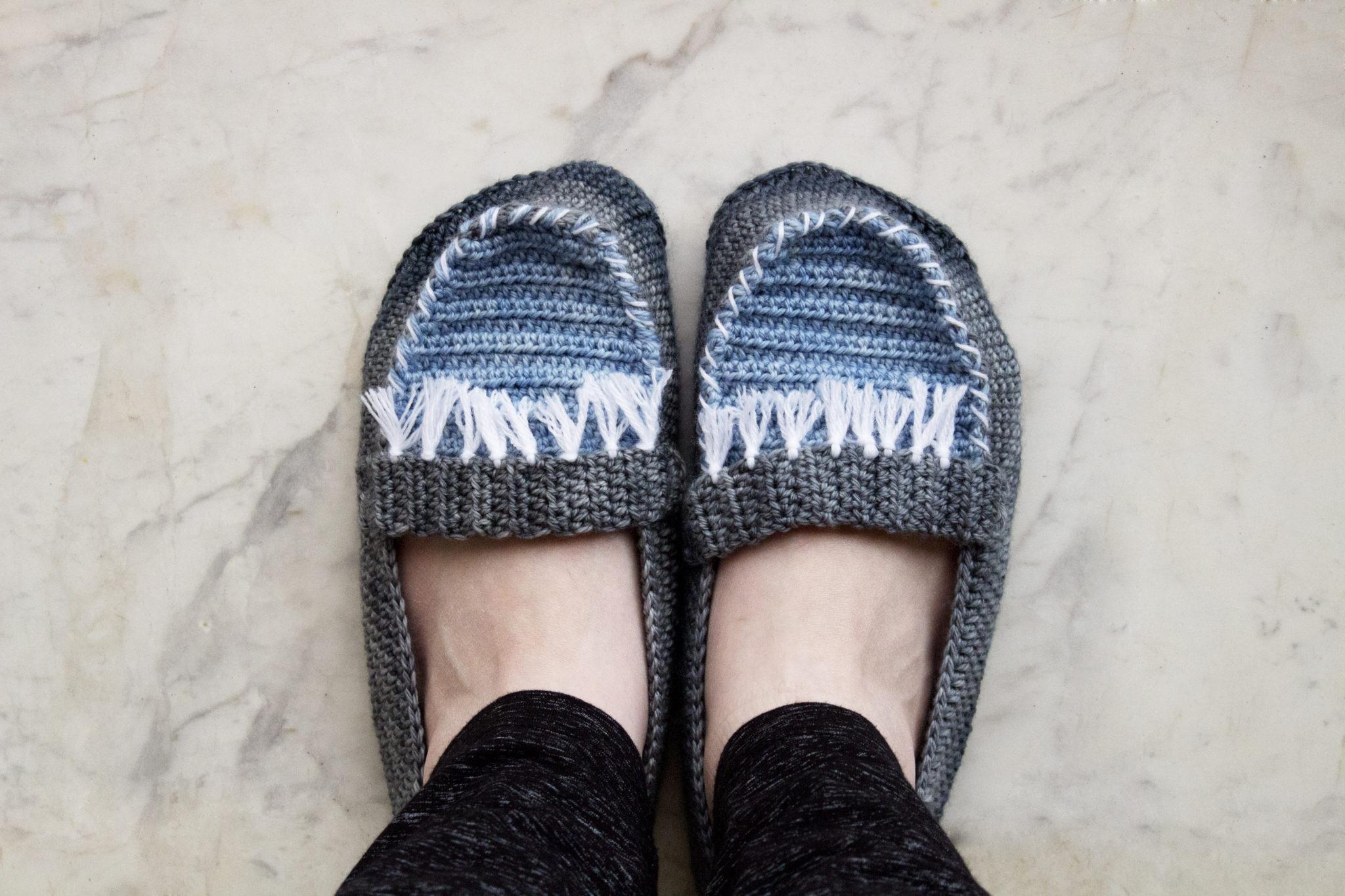 c9776fb37329 Moccasin slippers crochet pattern