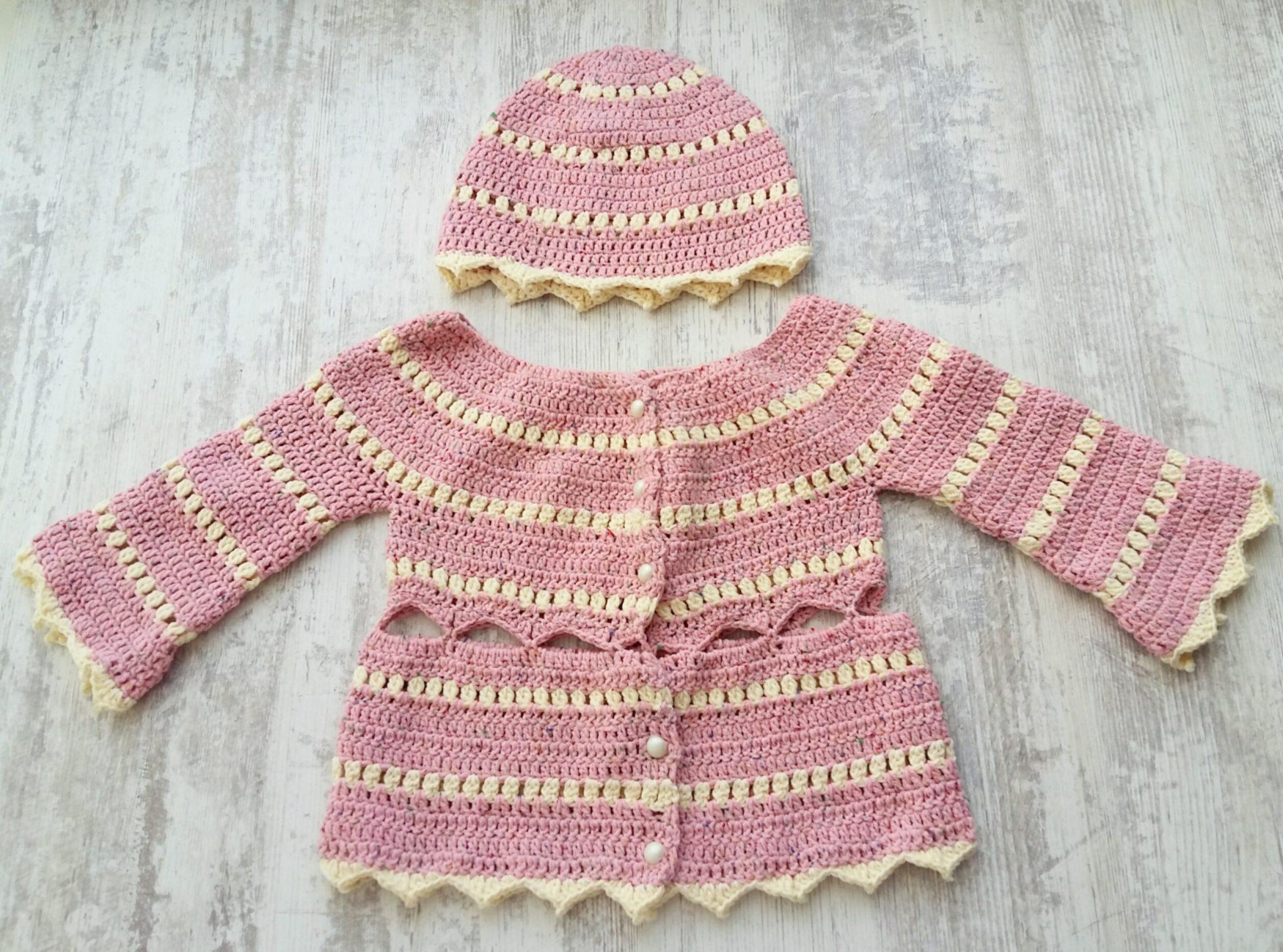Crochet baby jacket free pattern | My Little Princess Pattern - My ...