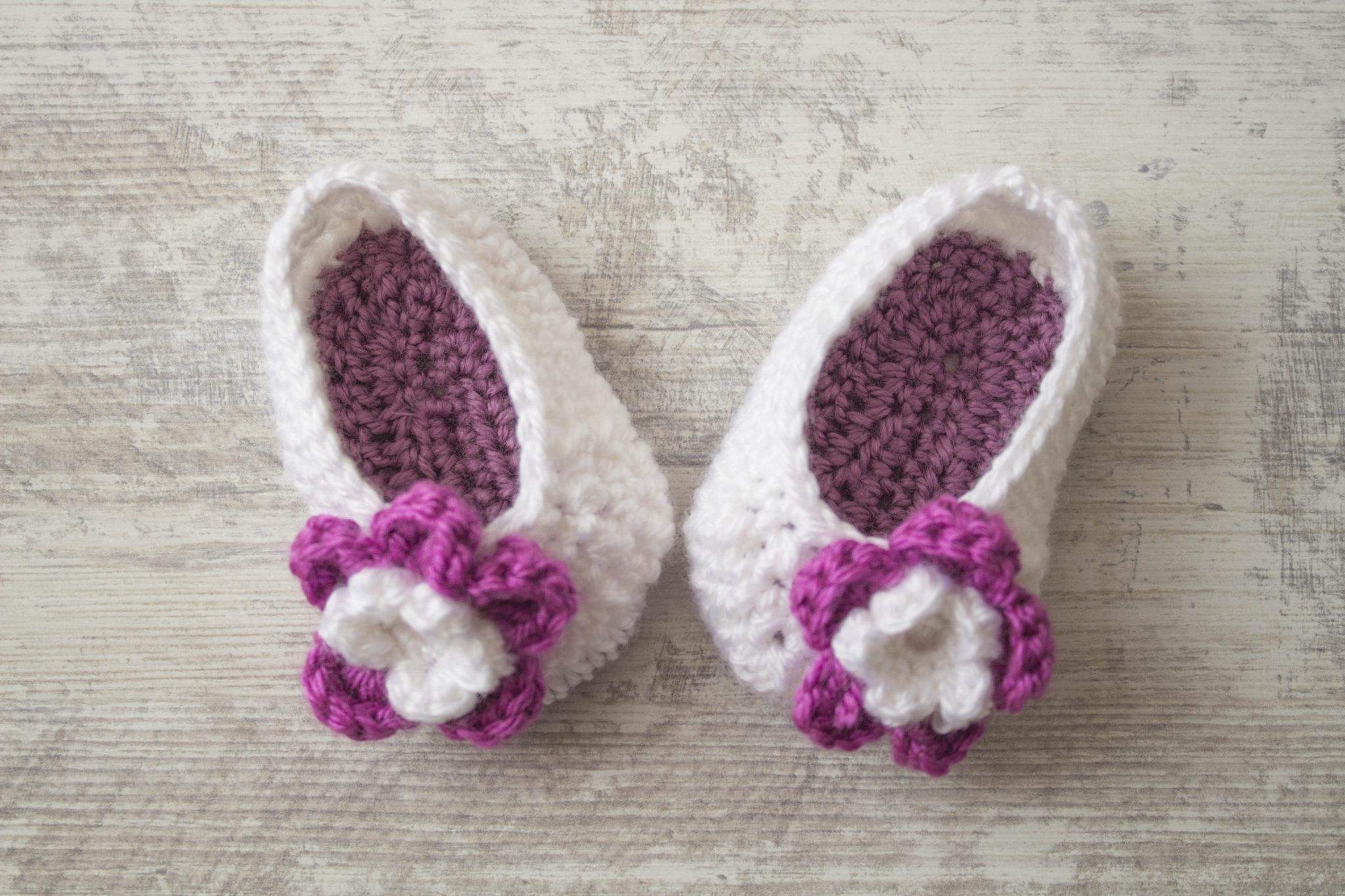 Crochet Ballerinas Baby Flower Free Crochet Pattern My Accessory Box