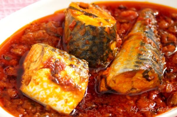 Easy Mackerel tomato stew
