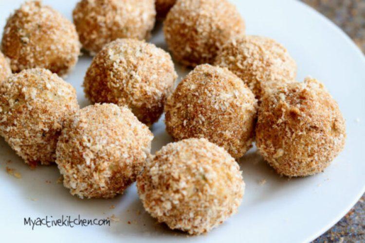 how to make stuffed yam balls