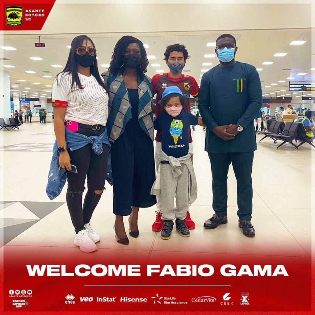 Brazilian midfielder Fabio Gama finally arrive to begin Kotoko stint