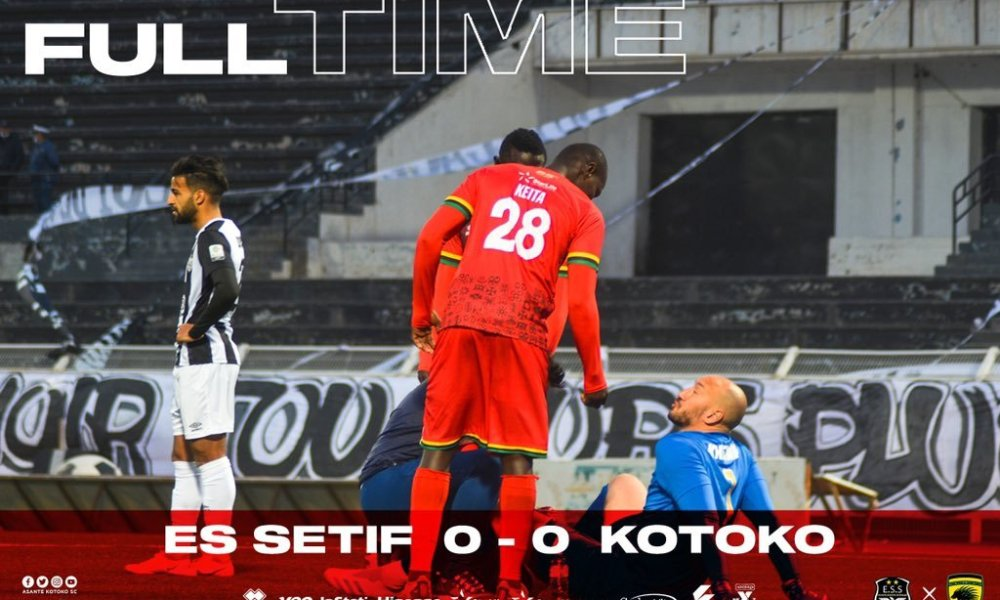 CAFCC: Kotoko bow out after goalless draw with Setif in Algeria