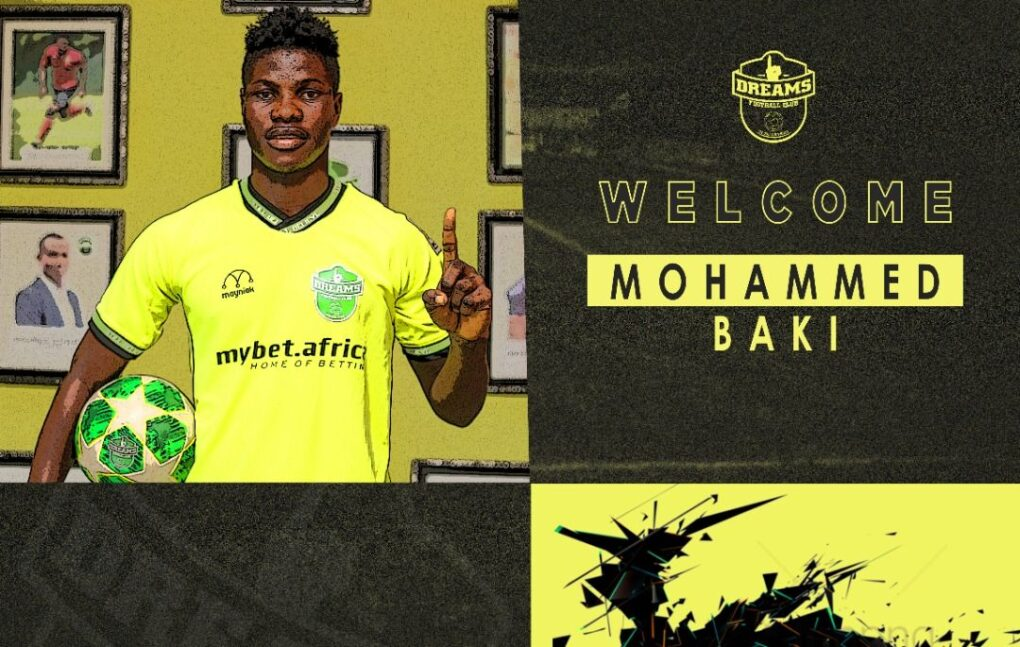 Dreams FC sign midfielder Mohammed Baki ahead of GPL second round