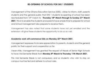 GES press release