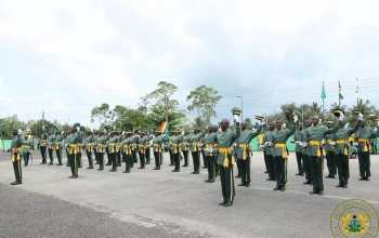 Personnel of the GIS parade