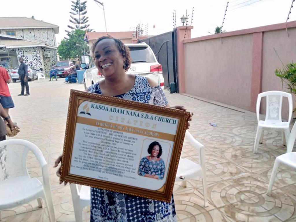 SDA Church Honors Hon Hawa Koomson For Her Contribution To The Work Of God