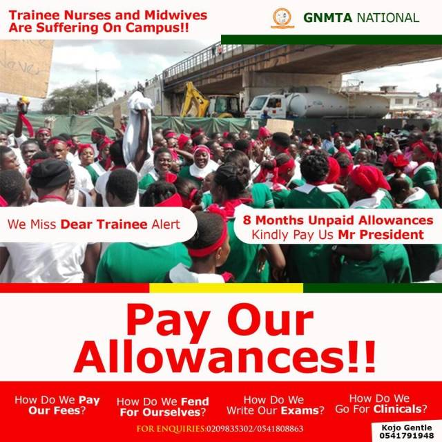 nurses and midwives trainees hit streets over unpaid allowance