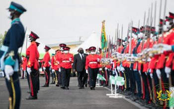 President Akufo-Addo inspects Military parade