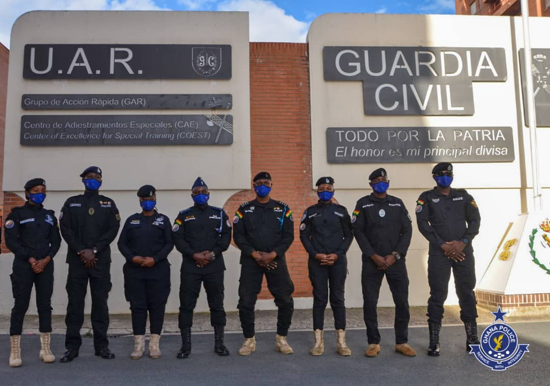 Ghana Police Service sends personnel to Spain for Counter-Terrorism Training