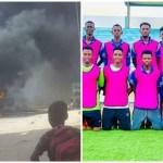 JCCI FC players and the burning bus