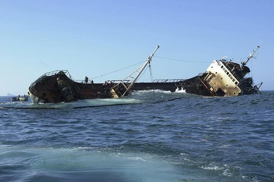 A banned vessel carrying WAEC officials and exam materials sink at a Liberia coast