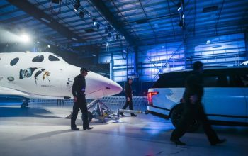 Range Rover Helps Unveil New Virgin Galactic SpaceShipTwo At Global Reveal And Naming Ceremony