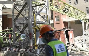 Crane collapsed in Nairobi