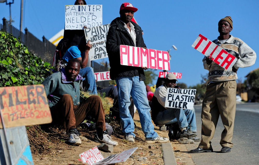 South Africa has the highest unemployment rate in the world