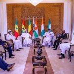 Ecowas leaders in a meeting