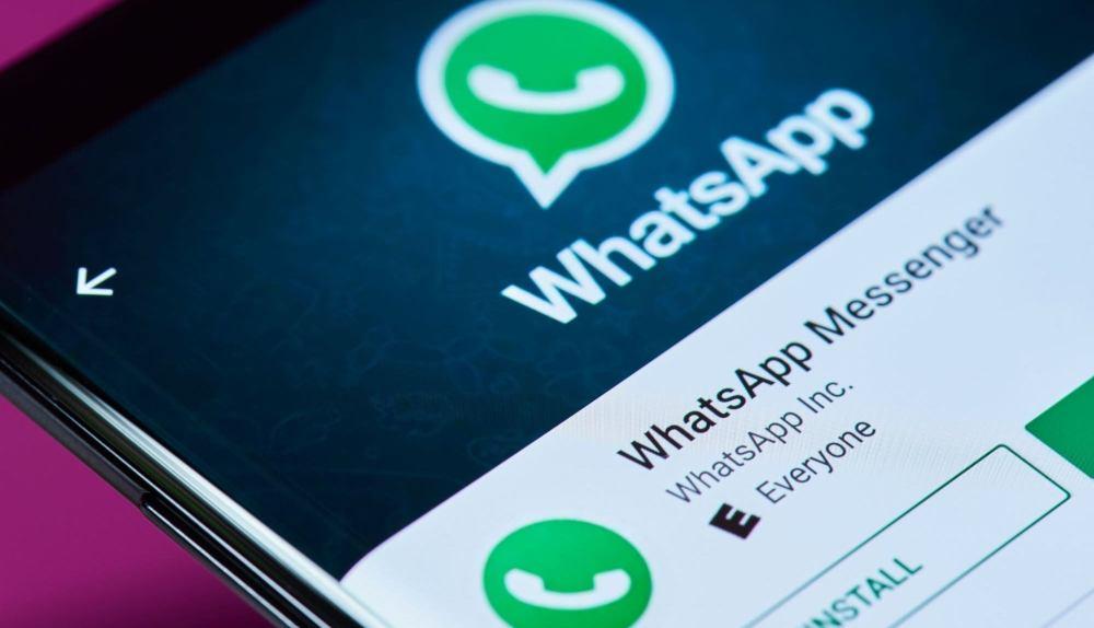 WhatsApp Messenger opened on a phone