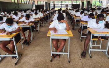 WASSCE candidates writing exams