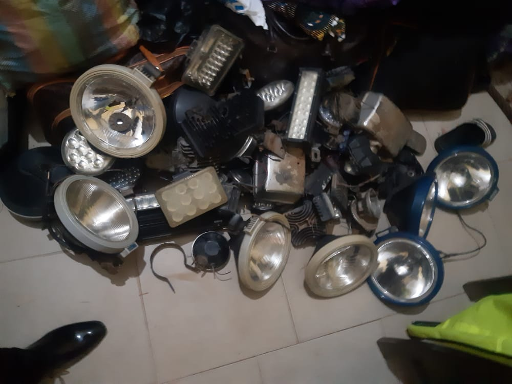 Police and Road Safety Commission remove illegal lamps from over 300 vehicles
