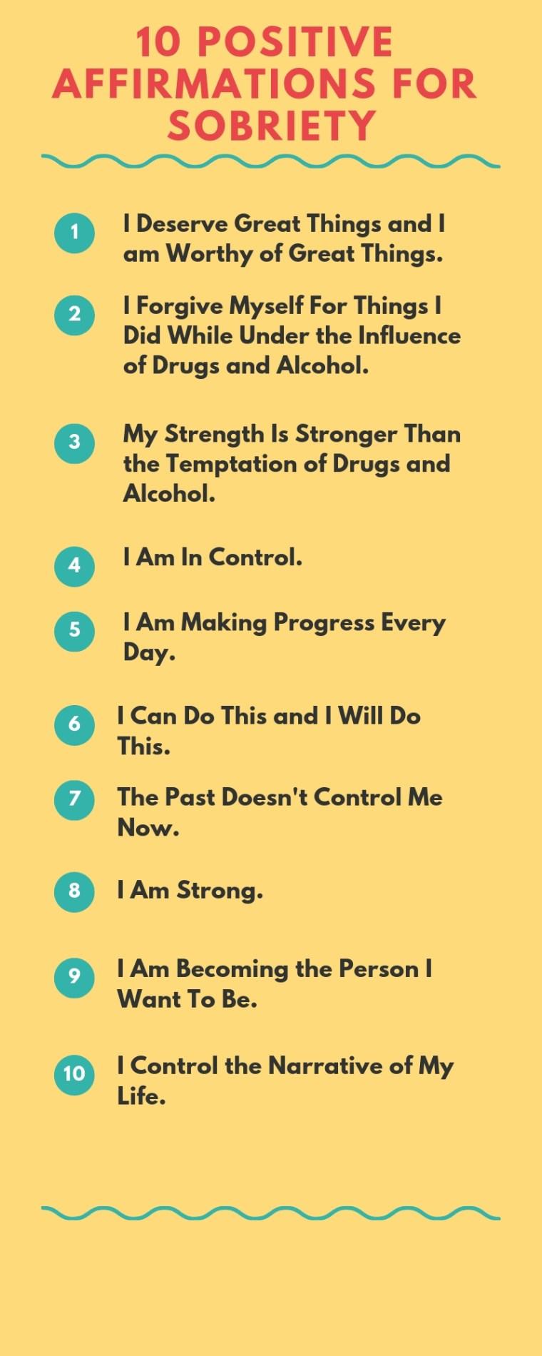 affirmations, positive affirmations, affirmations in recovery, positive affirmations, affirmations to stay sober