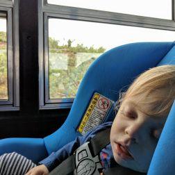 Asleep on the bus in Denali