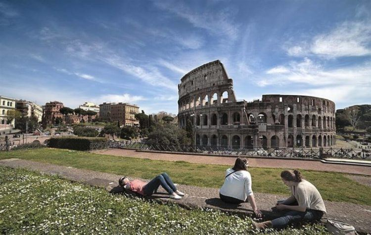 visiting the Colosseum