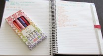 Inside of my notebook with my Erin Condren Pens