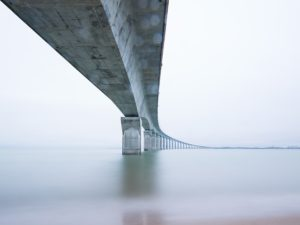pillars under bridge