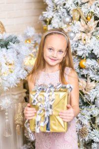 Beautiful Girl with Beautiful Gift