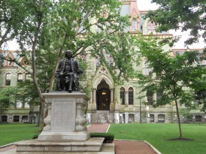 Photo from MyAdvisorSays campus tour of the University of Pennsylvania