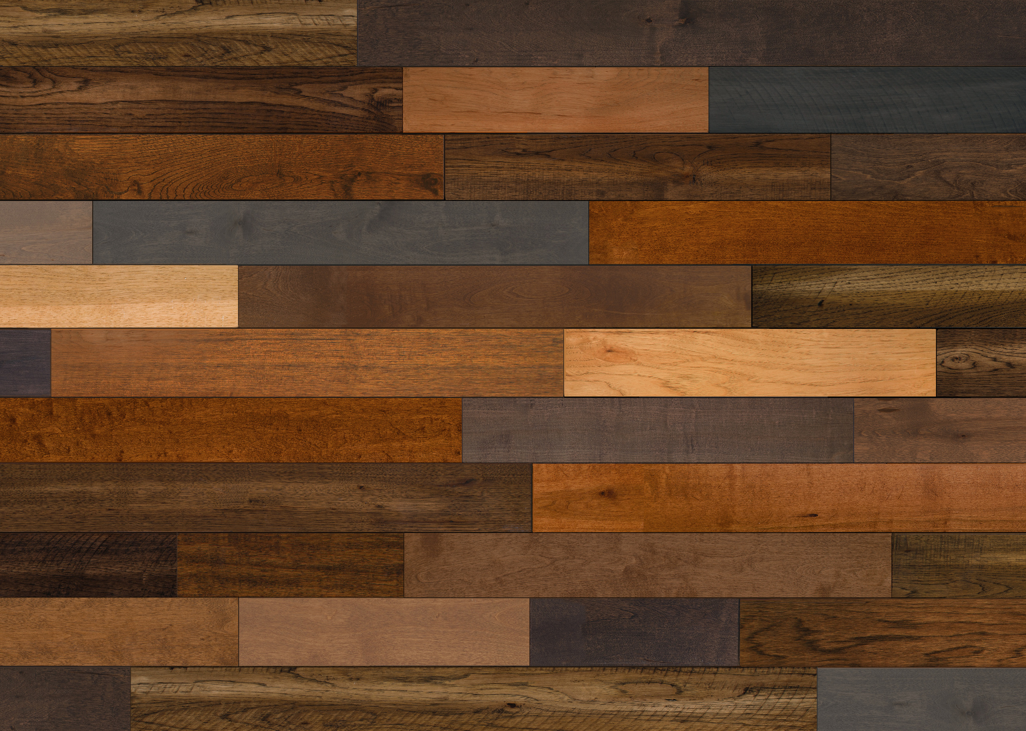 mixed species wood flooring pattern for background texture
