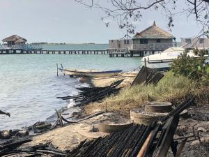 Just In: A Raging Fire Has Destroyed Keta Lagoon. 8