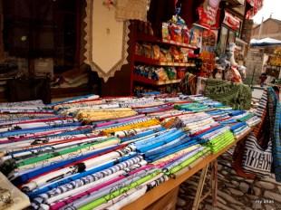Scarfs for sale in Safranbolu's market district