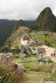 Looking toward the Intiwatana Pyramid and Huaya Picchu.