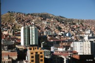 La Paz, as viewed from our hotel.