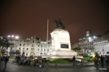 Plaza San Martin at night.
