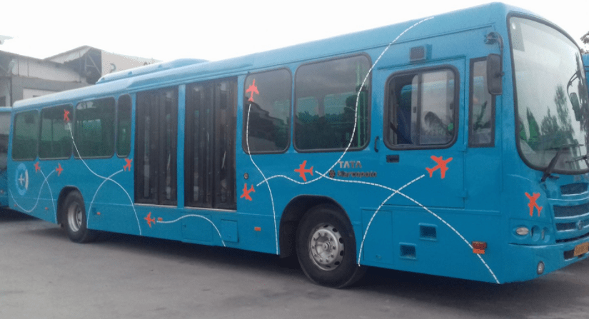 Ahmedabad city to airport bus