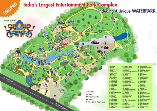 Tirupati rushivan map
