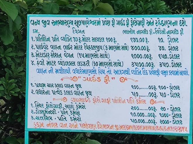 Zarwani entry fees